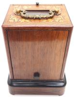 Fine French Officers 8-day Mantel Clock – Rosewood Case With Satinwood Inlay (9 of 13)