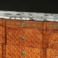 Late 19th Century French Gilt Bronze Mounted Tulipwood & Kingwood Marble Topped Commode (4 of 10)