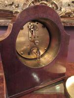 Antique Walnut Cased Chinoiserie Mantel Clock (7 of 7)