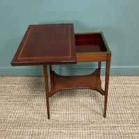 High Quality Edwardian Inlaid Antique Card Table (5 of 6)