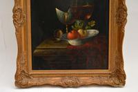 Antique Still Life Oil on Board Painting by F.V Knapp (5 of 8)