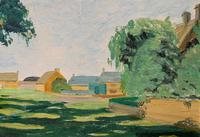 Exquisite Original Early 20th Century Impressionist Farmland Landscape Oil Painting (3 of 12)