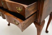 Antique Burr Walnut Low Boy Side Table (10 of 11)