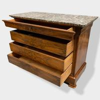 Figured Walnut & Marble Top Commode (11 of 16)