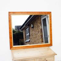 Victorian Birds Eye Maple Overmantle Mirror (2 of 8)