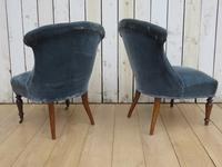 Pair of Antique French Tub Chairs (3 of 9)