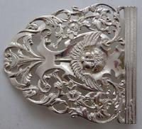 Victorian 1898 Hallmarked Solid Silver Nurses Belt Buckle W Davenport Maternity (3 of 7)