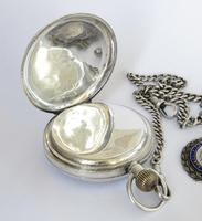 Antique Swiss silver pocket watch and chain (5 of 5)