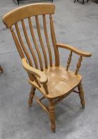 1960's Country Golden Beech Carver Chair