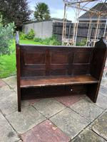 Antique Victorian Church Pew Bench Solid Oak (2 of 8)