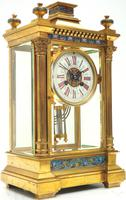 Antique French Table Regulator with Compensating Pendulum 8 Day 4 Glass Mantel Clock (7 of 12)
