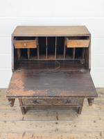 Early 20th Century Oak Carved Bureau (3 of 10)