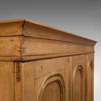 Antique Three Panel Wardrobe, English, Pine, Cupboard, Closet, Victorian c.1900 (8 of 10)