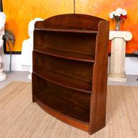 Oak Open Bookcase Bowfront Waterfall Bookshelves (8 of 9)