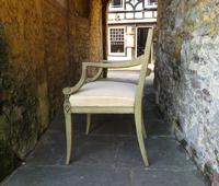 French Painted Regency Elbow Chair (4 of 9)