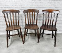 Matched Set of 6 Windsor Kitchen Chairs c.1890 (3 of 7)