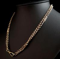 Antique 9ct gold muff chain, Victorian necklace (7 of 17)