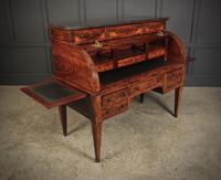Beautiful Large Flame Mahogany Cylinder Desk (29 of 30)
