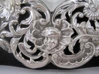 William Comyns Victorian Heart Shaped Silver Dressing Table Mirror (6 of 8)