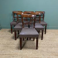 Superb Quality William IV Set of Six Mahogany Antique Dining Chairs (9 of 9)