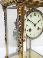 Awesome Antique French Champlevé Ormolu Bronze 8 Day Striking Mantel Clock c.1880 (5 of 13)
