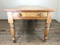Victorian Antique Pine Farmhouse Kitchen Table (9 of 10)