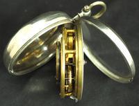 Antique Silver Pair Case Pocket Watch Fusee Verge Escapement Key Wind Enamel P Edmonds Liverpool (6 of 10)