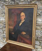 Large Antique Oil on Canvas Portrait of a Gentleman (19 of 19)