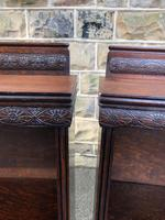 Pair of Antique Oak Open Bookcases (2 of 10)