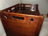 George III Mahogany Tray Top Bedside Cabinet (4 of 9)