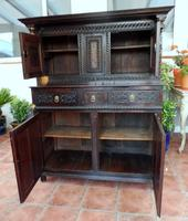 Country Oak Marquetry Inlaid Court Cupboard 1770 (6 of 10)