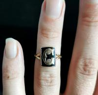 Antique Victorian Mourning Ring, Initial C, 9ct Rose Gold (10 of 10)