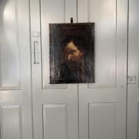 Antique Georgian oil painting portrait of dark haired bearded gentleman (2 of 11)