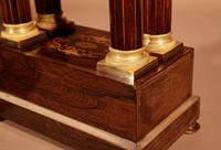 A Very Stylish Charles X Rosewood/Palisandre Inlaid With Lemon Wood and Ormolu Portico Clock Circa: 1830 (10 of 15)