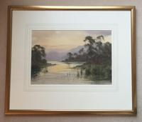 Edward H.Thompson Pair of Wwatercolours of the lake district ' the jaws of borrowdale, derwenter' and   ' eventide,rydal water' (2 of 5)