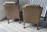 Pair of Leather Wing Chairs (10 of 10)