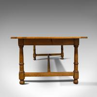 Large, Antique Refectory Table, Scottish, 8 Seat, Oak, Dining, Victorian c.1870 (5 of 11)