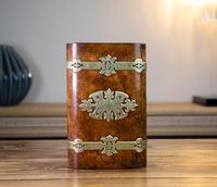 Burr Walnut & Brass Jewellery Box 1860 (6 of 14)