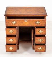 Georgian Style Walnut Kneehole Desk (4 of 10)