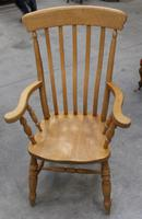 1960's Country Golden Beech Carver Chair (3 of 3)