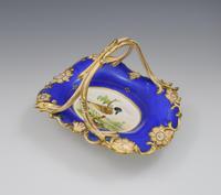 Fine & Large Alcock Rococo Porcelain Ornithological Basket c.1845 (2 of 17)