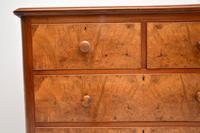 Antique Victorian Burr Walnut  Chest of Drawers (5 of 11)