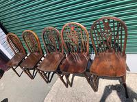 Harlequin Set 10 Ash & Elm Kitchen Chairs (5 of 10)