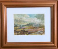 Original gouache painting 'Strath Ondal, The Black Valley by Fort William' by Barbara Lady Brassey 1911-2010.Signed. c.1975 (2 of 2)