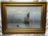 Scottish Marine Oil Painting Sailing Fishing Boats on the Tay Estuary by Dundee (21 of 23)