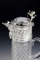 Attractive Early 20th Century Silver Topped Claret Jug (7 of 8)