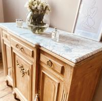 Large French Sideboard / Vintage Marble Sideboard / Buffet (4 of 7)