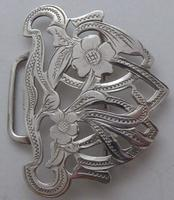 Arts and Crafts Style 1903 Hallmarked Solid Silver Nurses Belt Buckle Edwardian (6 of 8)