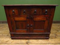 Vintage Indian Cabinet, TV Stand Storage Cabinet with Small Drawers (2 of 11)