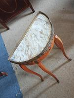 Small french Demi Lune Marble Top table (4 of 4)